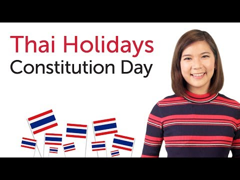 Learn Thai Holidays - Constitution Day