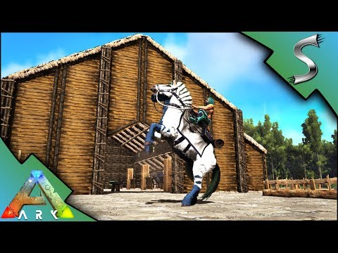 EQUUS STABLES BUILDING! MASSIVE STABLE BUILD - Ark: Survival Evolved [S3E121]