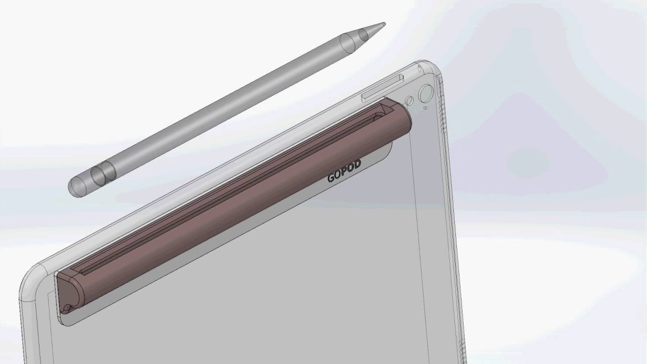 GOPOD Stylus holder for iPad Pro - YouTube
