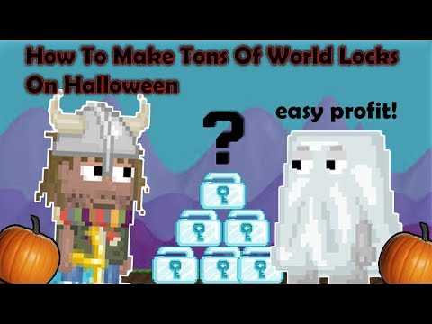 Growtopia - How To Make Tons Of Wls On Halloween (Easy Profit)