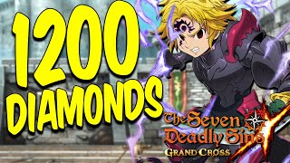 1200 DIAMONDS BLUE DEMON MELIODAS SUMMONS The Seven Deadly Sins Grand Cross