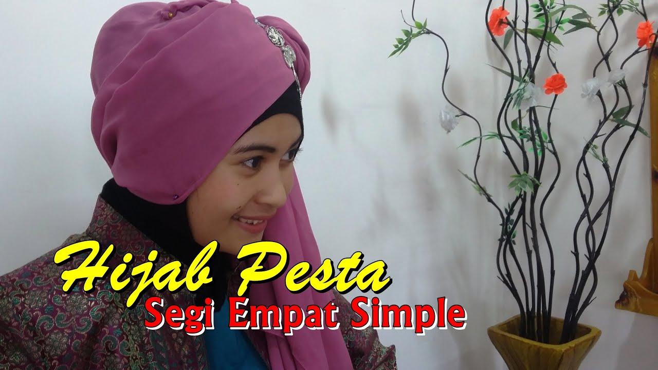 Hijab Tutorial Hijab Pesta Segi Empat Simple By Nica 179 YouTube
