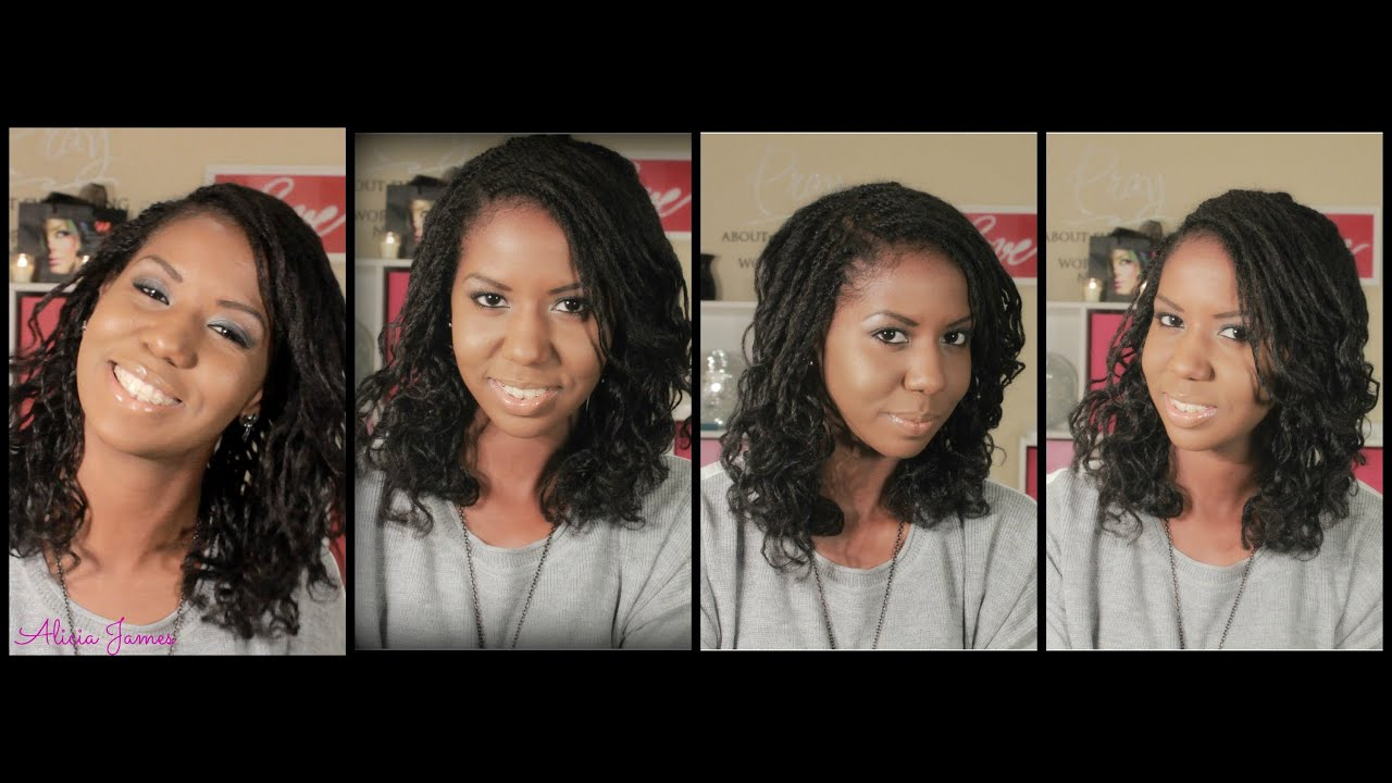 Bantu Knot Out On Two Strand Twist Natural Hairstyle