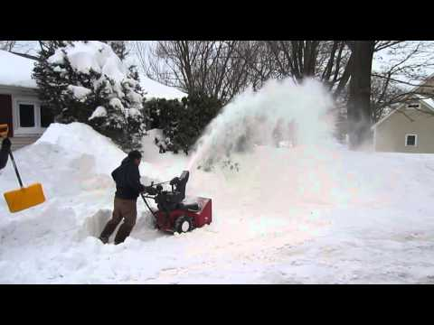 Winter Weather in Marblehead Massachusetts Snowblowing MVI 6864