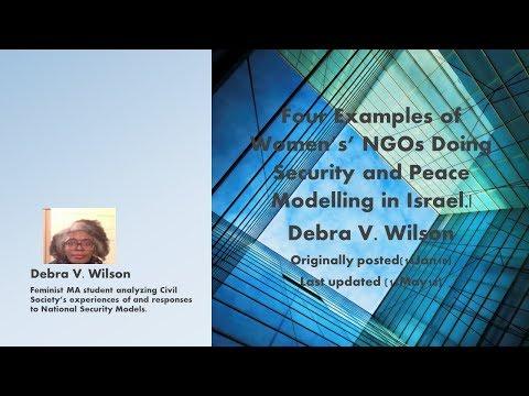 4 Women's NGO's: Israel, Gaza, the West Bank & Relationships|Debra V. Wilson