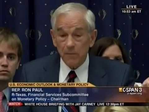 Ron Paul vs Bernanke: Is Gold Money - July 13, 2011