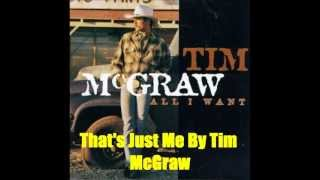 Watch Tim McGraw Thats Just Me video