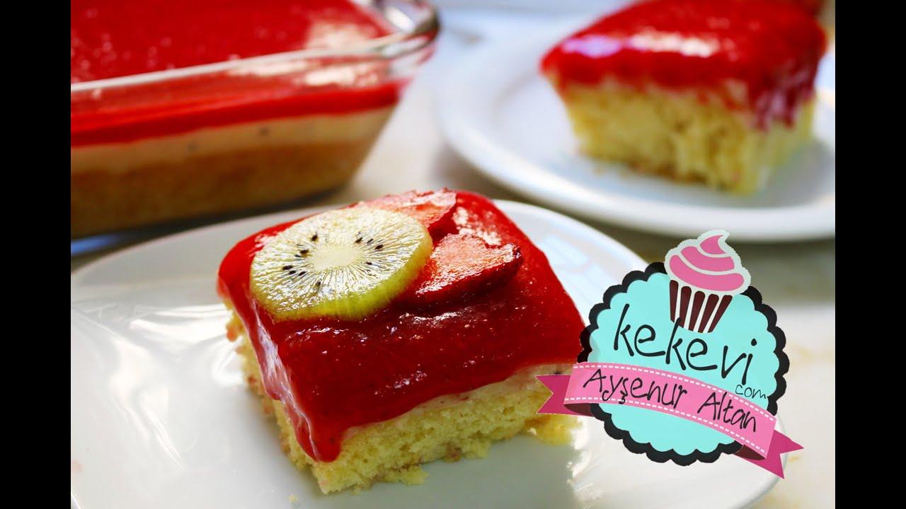 Çilek Kremalı Kek