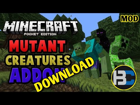 Mutant Creatures Mod How To Download In Minecraft PE😵