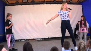 Street Dance: Battle Hip-Hop Сакура vs Соня (kids beginners). Dance School SOL