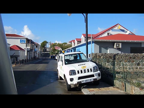 Driving through the whole town of Gustavia, by Air Port, ST Jean, Lorient ST Barts