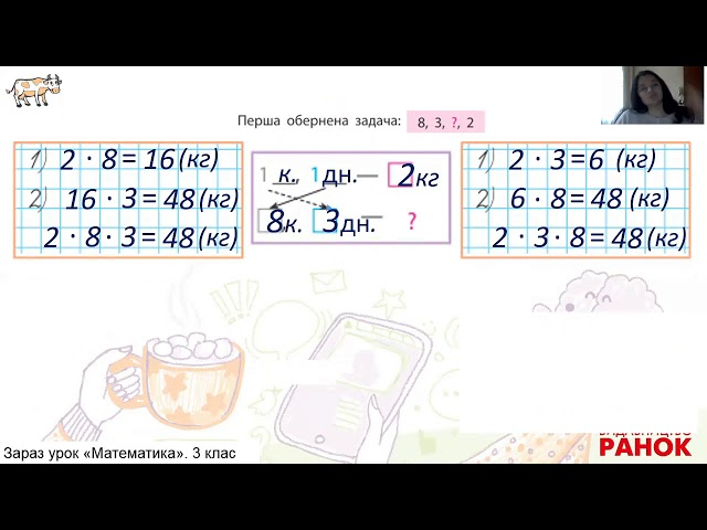 3 клас. Математика. Дослідження задачі на подвійне зведення до одиниці