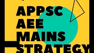 APPSC AEE Mains Strategy  -  Free Guidance for 369 Batch || Lectures with New Learning Strategies