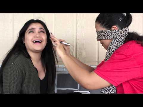 Blindfold Makeup Challenge ft. Gabby - 동영상