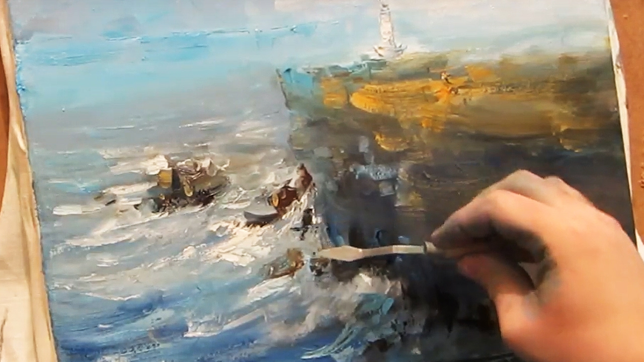 oil painting lighthouse youtube