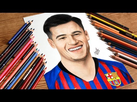 Drawing Coutinho in Barcelona Jersey