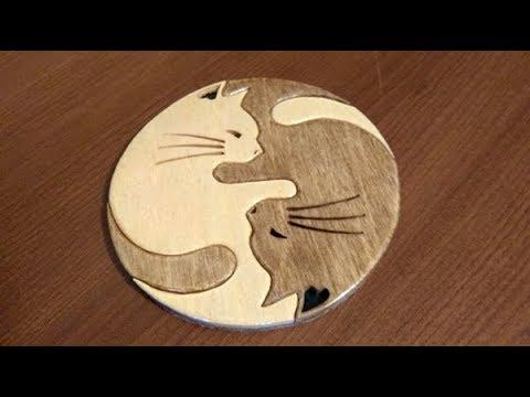 Yin Yang Cats - making of scroll saw segmentation