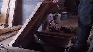 как сделать люк в деревянном полу с доской на крышке своими руками