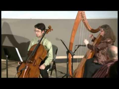 Simple Gifts (cello, harp, violin)