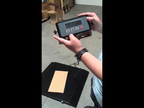 digital scale calibration instructions