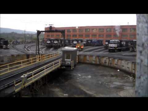 Epic Railfanning Altoona Pennsylvania Part 3: Juniata Shops And Railwalk 4pm-12am