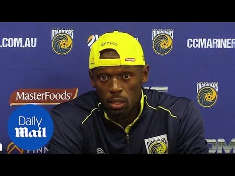Usain Bolt relieved after scoring first goal for CCM