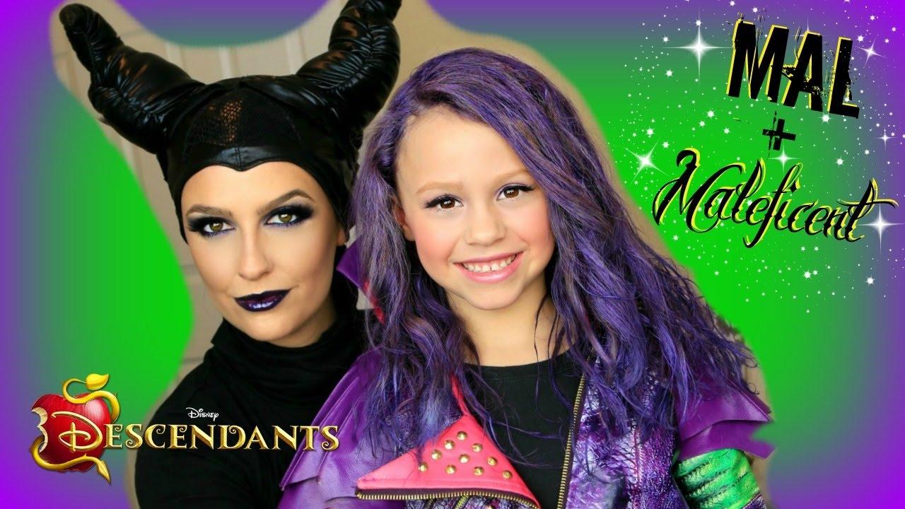 Disney's Descendants - Mal & Maleficent Costume Transformation! (Part 2)