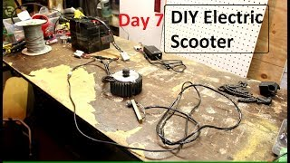 DIY Electric Scooter build - Day 7 - 2-15-2017 - More Electrical