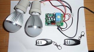 Receptor y emisor de 315Mhz de 2 canales de 220V, programación y funcionamiento