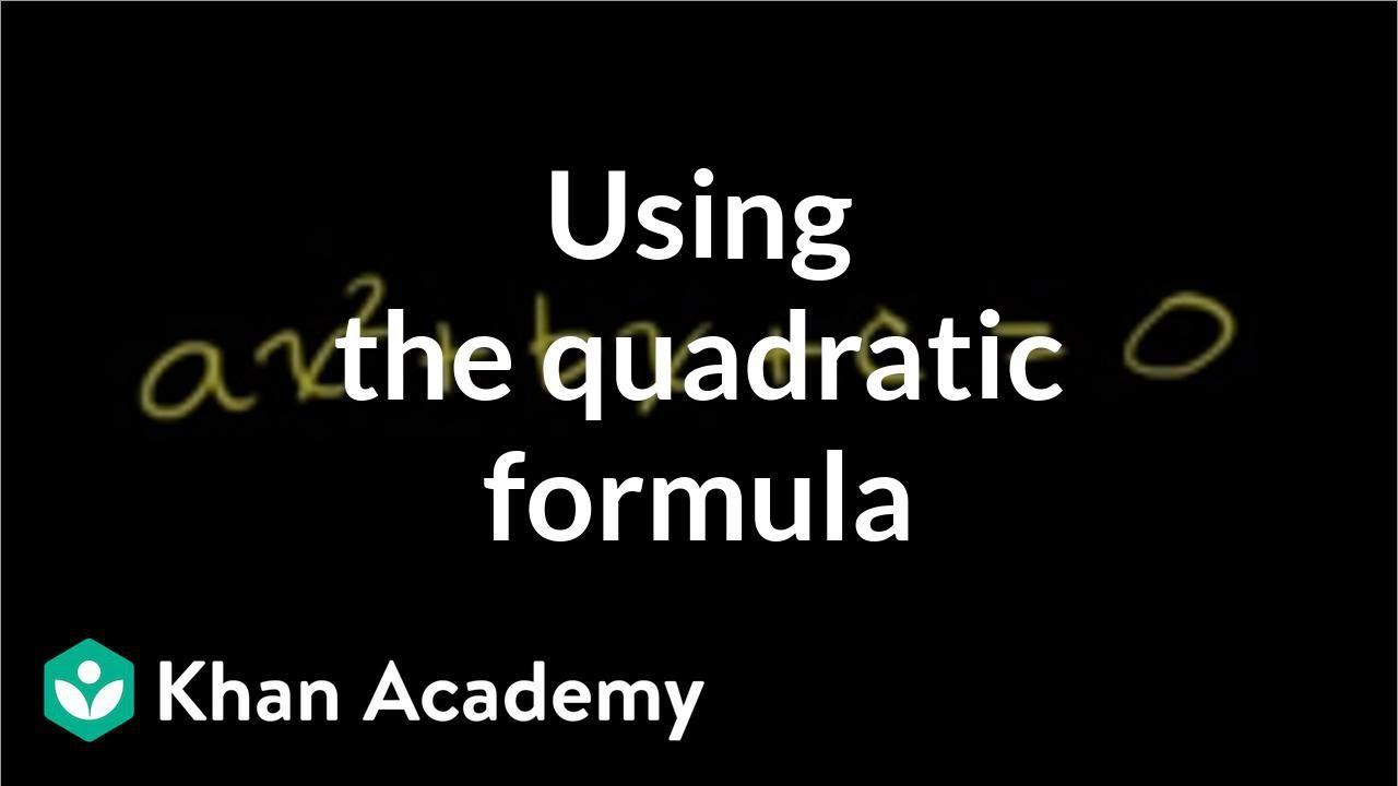 Example quadratics in standard form quadratic equations algebra example quadratics in standard form quadratic equations algebra i khan academy falaconquin