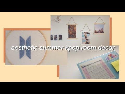 diy aesthetic summer kpop room decor & organization ...