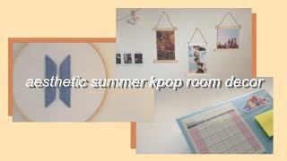 diy aesthetic summer kpop room decor & organization ♡