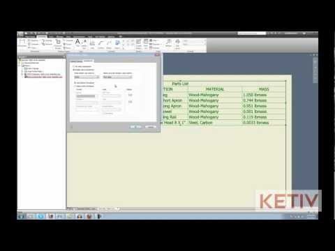 Adding Up Parts List Values in Autodesk Inventor
