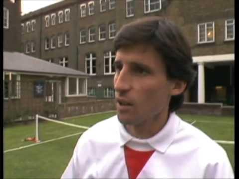 Derek Jameson and Sebastian Coe - Sports Council launch - Thames news