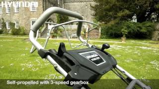 Hyundai Electric Start Petrol Self Propelled 4-in-1 Rotary Lawn Mower HYM51SPE Promotional Video