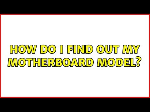 Ubuntu: How Do I Find Out My Motherboard Model?
