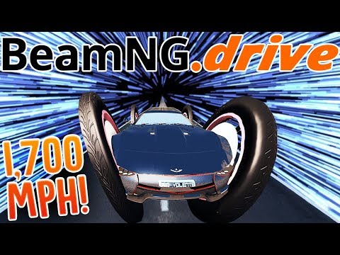 Driving A Car So Fast It Goes Into Another Dimension - 1700+ MPH Supercar Crashes - BeamNG Drive
