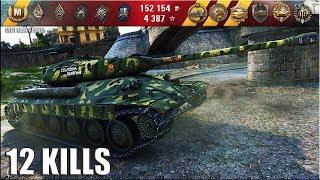 НЕ БЕРИ ДОБЬЕМ!!! ИС-6 нагибает 🌟 12 фрагов 🌟 World of Tanks лучший бой на прем тт СССР 8 уровень