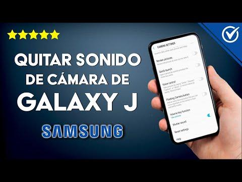 Cómo Silenciar o Quitar el Sonido de la Cámara de los Samsung Galaxy J