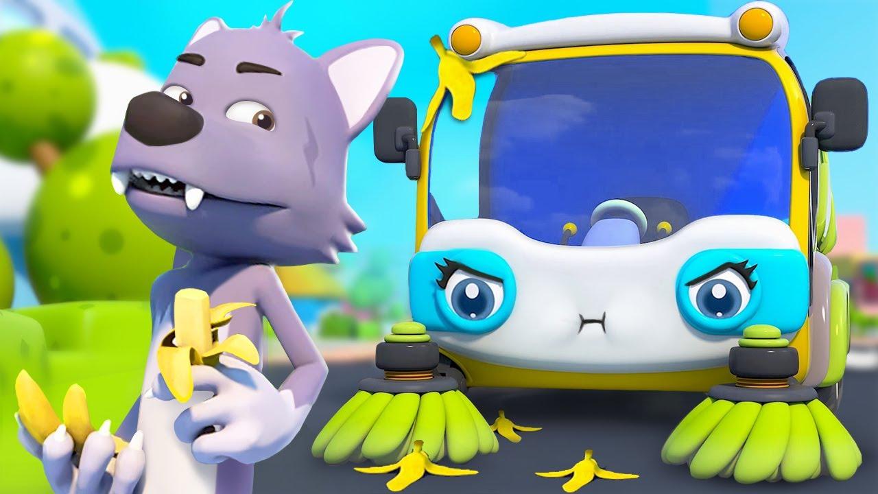 イタズラオオカミVSまじめなせいそうしゃ   はたらく車   よい生活習慣   赤ちゃんが喜ぶ歌   子供の歌   童謡   アニメ   動画   ベビーバス  BabyBus