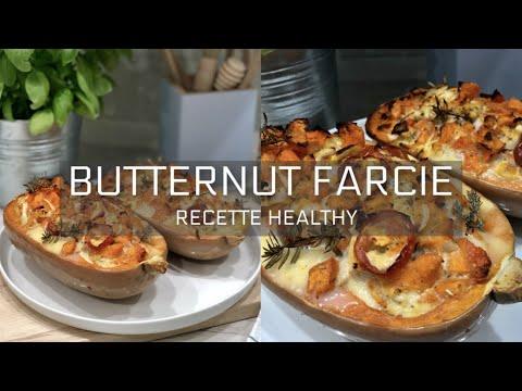 recette-healthy-santÉ---butternut-farcie-au-poulet-🍗