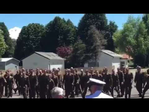 New Zealand army HAKA 2016 waiouru