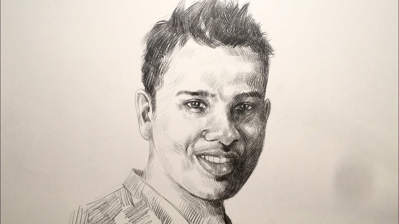 Portrait drawing of rohit sharma indian cricketer speed drawing pencil drawing