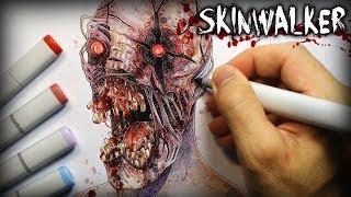 """Skinwalker"" (The Rake) Horror Story - Creepypasta + Drawing thumbnail"