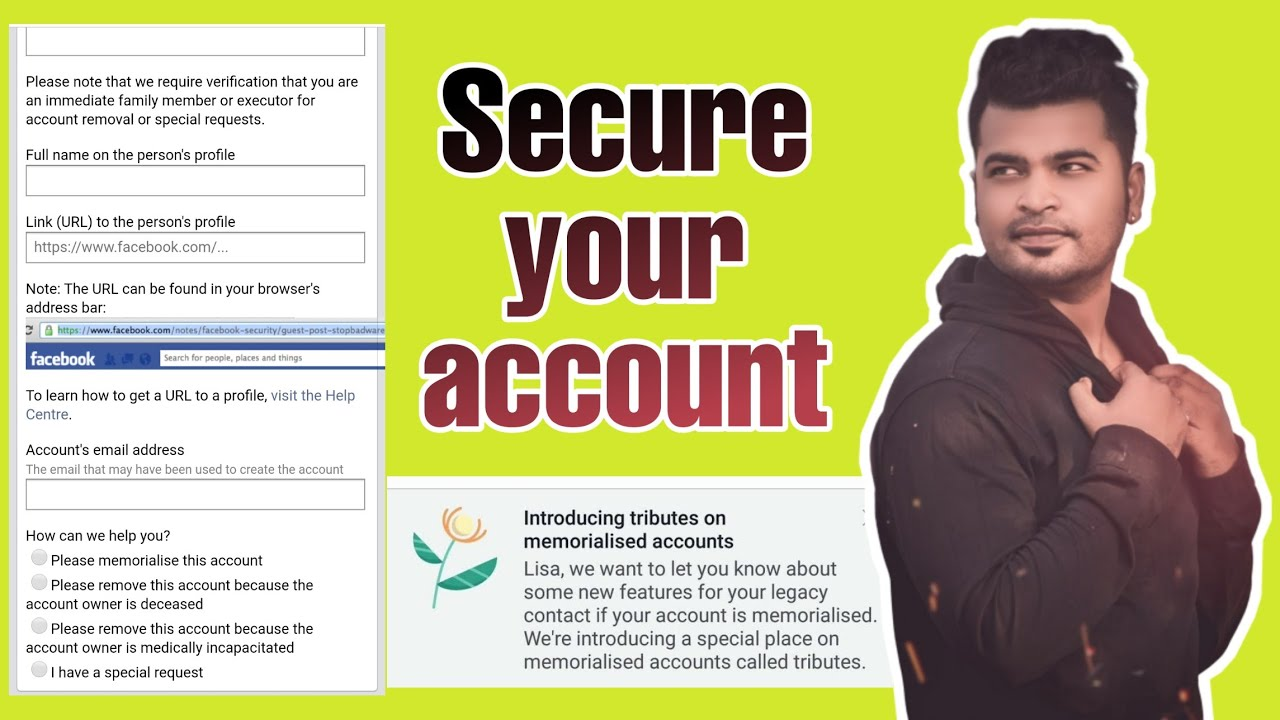 Memorial/Remembering problems//How to secure your Facebook account.🔥