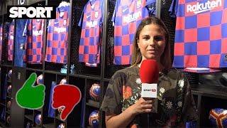 AFICIONADOS DEL FC BARCELONA REACCIONAN A LA NUEVA CAMISETA DE CUADROS PARA LA PRÓXIMA TEMPORADA 👀