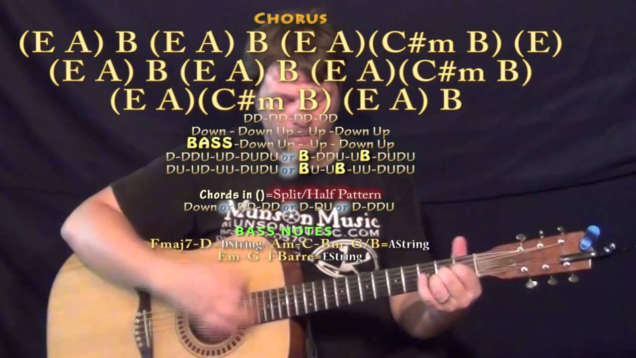 What Makes You Beautiful One Direction Guitar Lesson Chord Chart