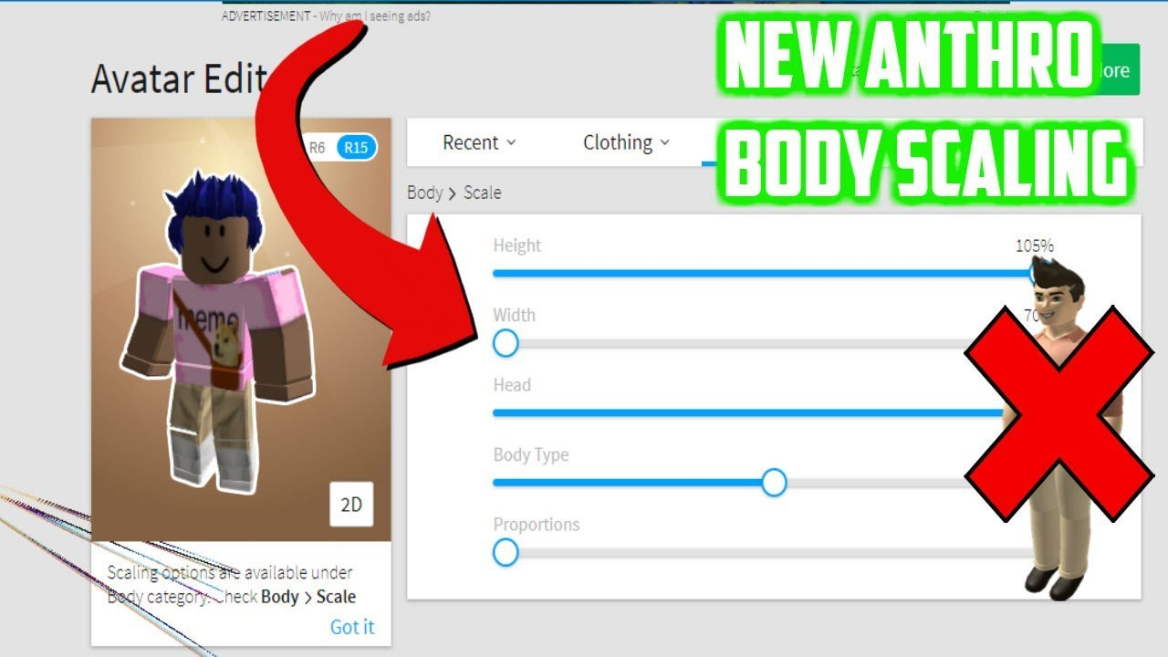 Roblox Body Types Girl New Anthro Body Scaling In Roblox Youtube