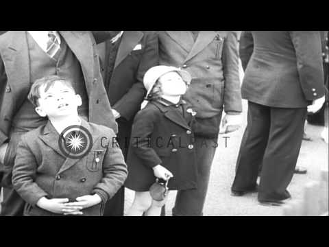 Aerial feats and fireworks herald 1939 World's Fair HD Stock Footage