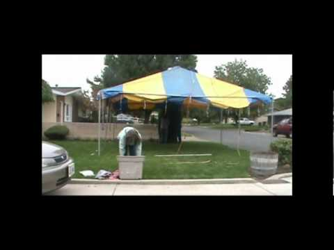 how to make a misting tent